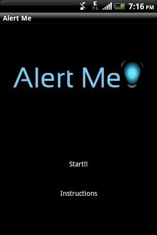 Alert Me! - screenshot