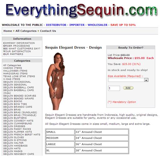 Sequin Fashion Clothes