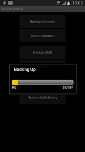 Rocket Backup (SMS&Contacts) screenshot