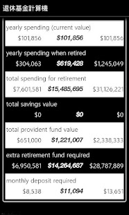 Retirement Fund Calculator- screenshot thumbnail
