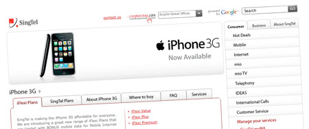 SingTel Releases iPhone 3G