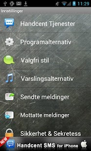 Handcent SMS Norwegian Languag- screenshot thumbnail