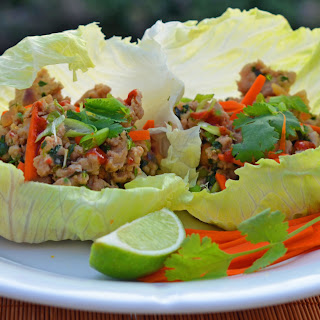 Thai Minced Chicken Lettuce Cups
