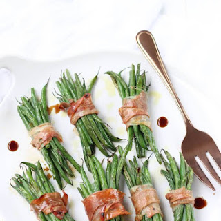 Crispy Prosciutto Wrapped Balsamic Green Beans