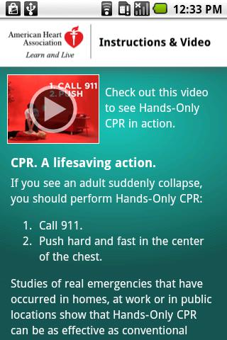 Hands-Only CPR - screenshot