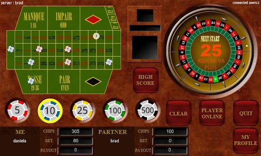 Roulette multiplay