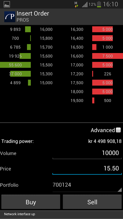 Pareto Trader- screenshot