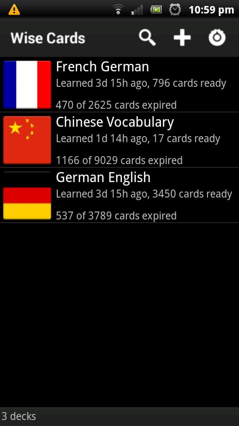 Wise Cards - Flashcards - screenshot