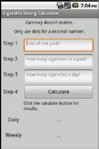 Stop Smoking Calculator