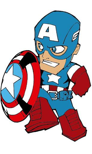 Coloring Captain America