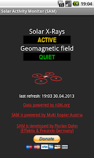 Solar Activity Monitor (SAM)- screenshot thumbnail