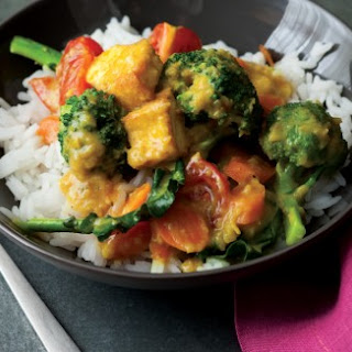 Lemongrass Curry with Broccoli and Tofu.