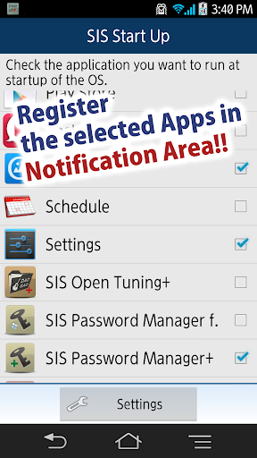SIS Start Up Notification
