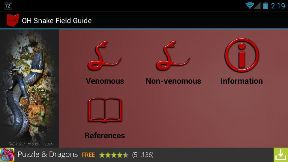 OH Snake Field Guide- screenshot
