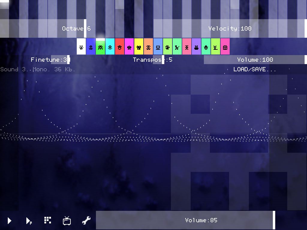 PixiTracker 1Bit - screenshot