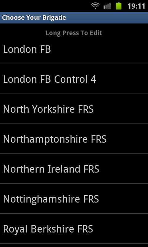 UK Fire Brigade Rota - screenshot