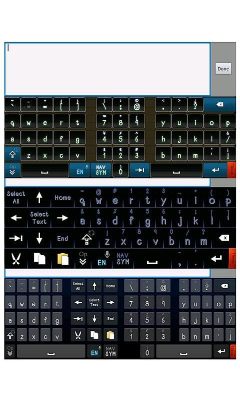 TSwipe-Pro keyboard - screenshot