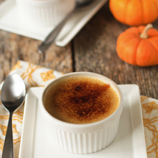 Pumpkin Spice Crème Brulee