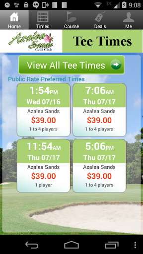 Azalea Sands Golf Tee Times