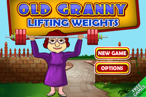 Old Granny Lifting Weights
