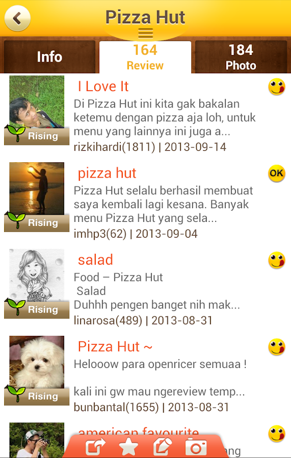 OpenRice Indonesia - screenshot