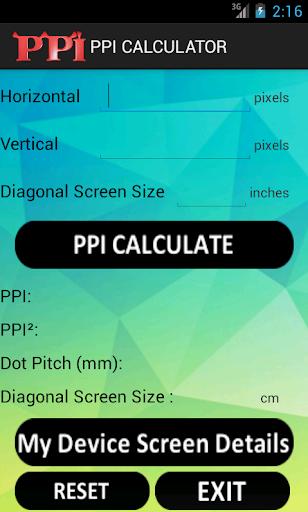 PPI Calculator