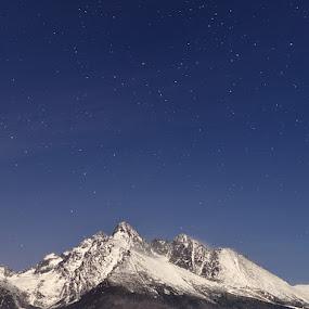 High Tatras under the moonshine by Pavel Klásek - Landscapes Mountains & Hills