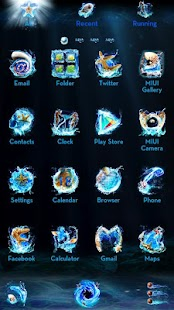 Oceanus GO Launcher Theme - screenshot thumbnail