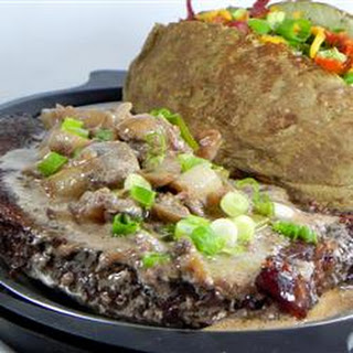 Brandy Flamed Peppercorn Steak
