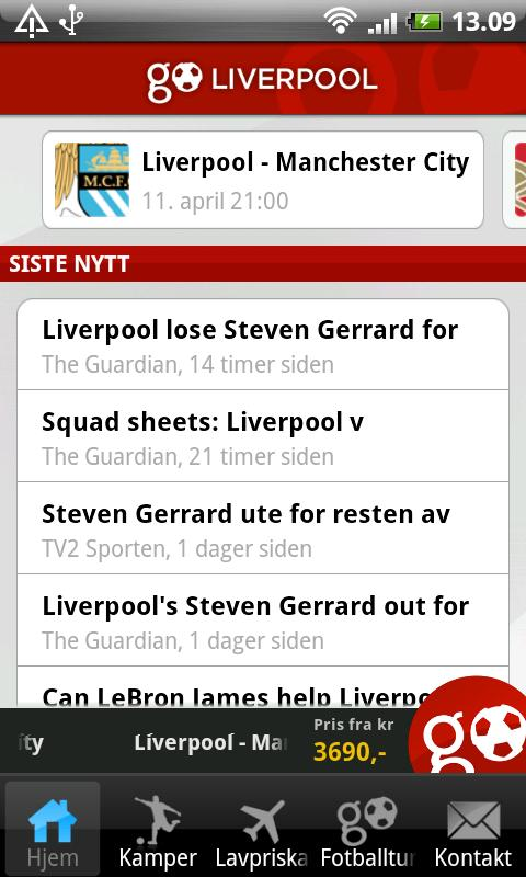 GoLiverpool- screenshot