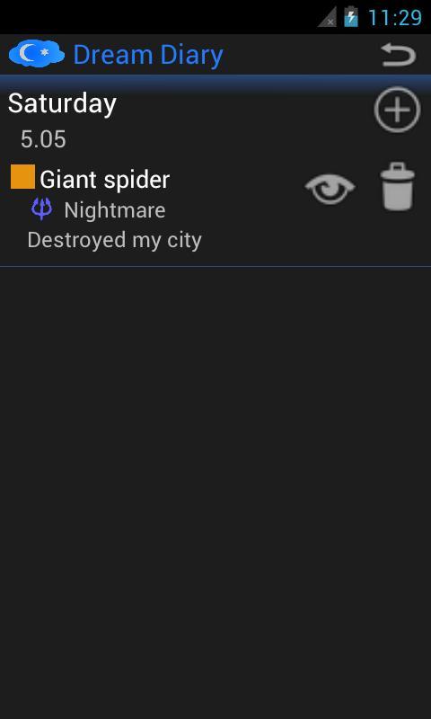Dream Diary- screenshot
