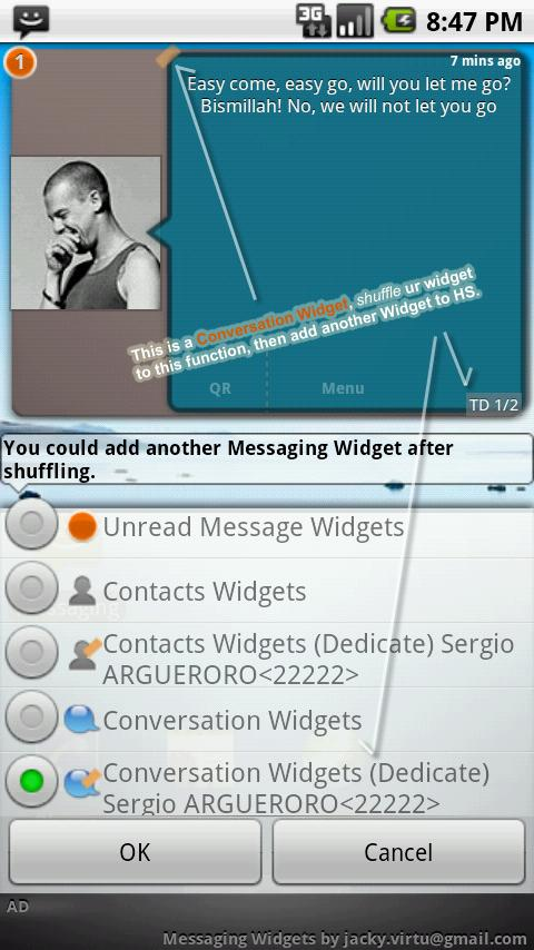 Messaging Widgets - screenshot