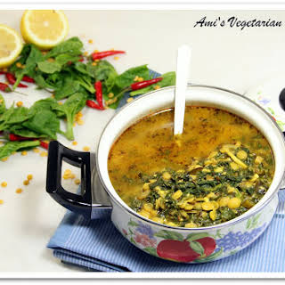 Spinach & Yellow Split Peas Soup & a Free Recipe Book Giveaway.