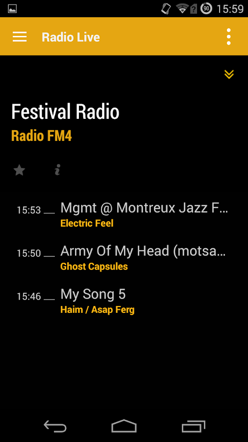 Radio FM4- screenshot