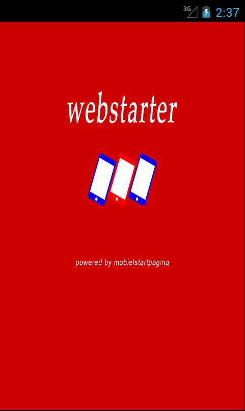 Webstarter: screenshot