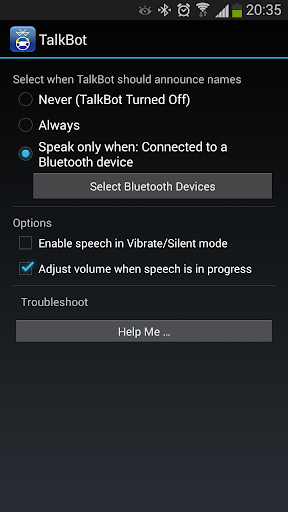 TalkBot Bluetooth 和 Wifi