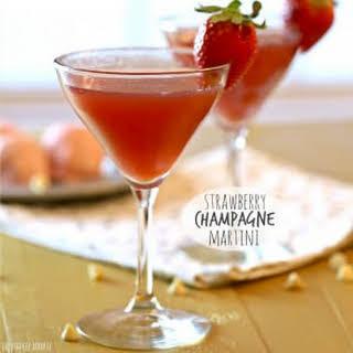 Strawberry Champagne Martini.
