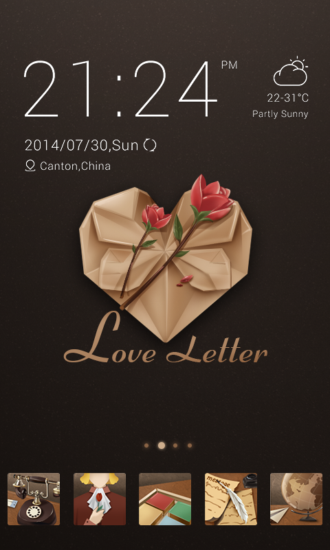 Love Letter GO Launcher Theme - Android Apps on Google Play