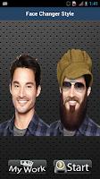 Screenshot of Face Changer Screen