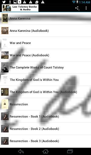 Leo Tolstoy Books Audio