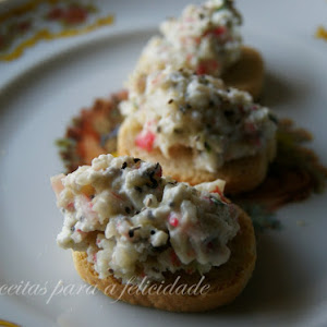 Cottage Cheese Pate with Crab Sticks and Chia Seeds