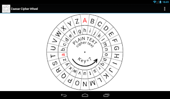 Screenshot of Caesar Cipher Wheel