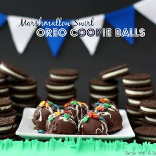 Marshmallow Swirl OREO Cookie Balls.