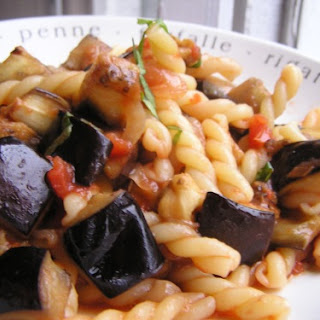 Pasta with Roasted Eggplant and Tomato