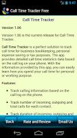 Screenshot of Call Time Tracker+Blocker Free