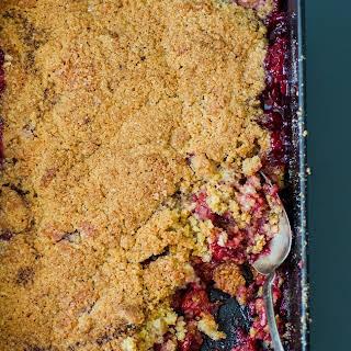 Tart Cherry Crumble.