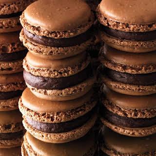 Chocolate Macaroons with Orange Ganache.