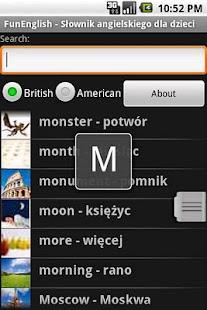 Słownik angielski dla dzieci- screenshot thumbnail