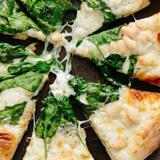 Spinach, White Bean, and Taleggio Pizza