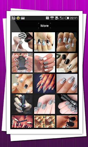 黑色和白色指甲